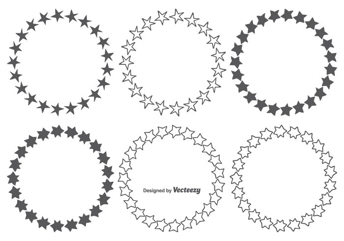 Hand Drawn Star Frames Set - WeLoveSoLo