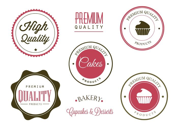 vintage sweet pink pastry muffin Frosting food logo food dessert delicious cupcake label cupcake badge cupcake chocolate cakes cake logo cake bakery logo bakery badge bakery baked