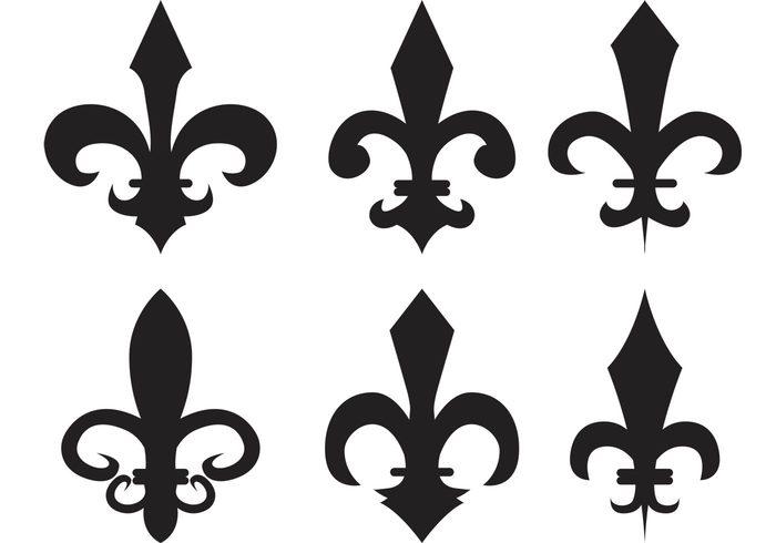 vintage template tattoo symbol stylized silhouette shape royalty royal retro renaissance ornate ornamental ornament motif medieval isolated French france fleur de lis emblem elegance decorative decoration classical classic black white black badge antique