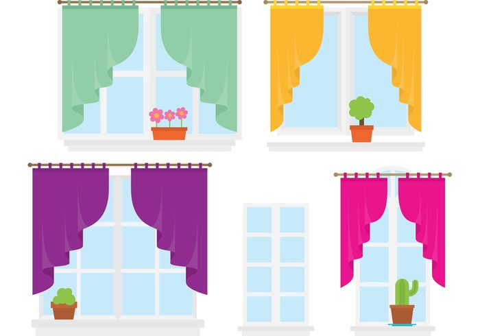 window curtains window curtain window view Textile sunlight spring pot plant interior design interior indoor Houseplant household House plant house home growing flowers decor curtain cloth bright architecture apartment