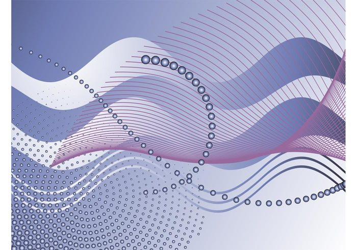 wireframes waving waves wallpaper lines dots decorative decorations curves curved circles background backdrop