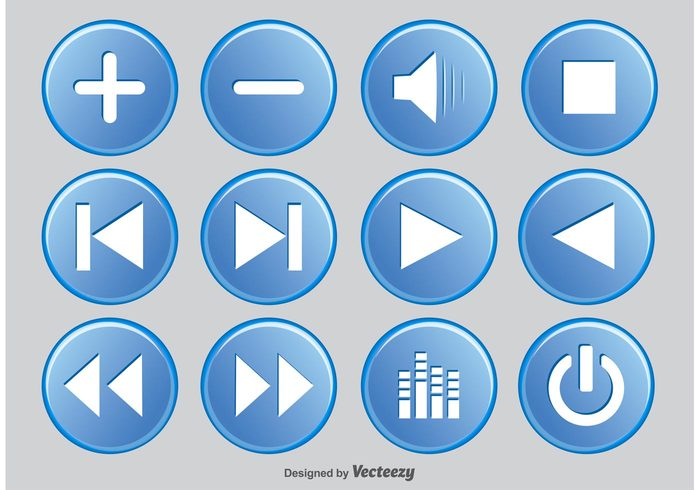 volume trendy symbol stop sound sign shiny settings set record rec radio progress power player controls player buttons player play pause button pause note Mute music buttons music multimedia pictogram modern media player buttons media player media icons media interface menu tool icon heart sign forward equalizer element digital design control button bar audio application