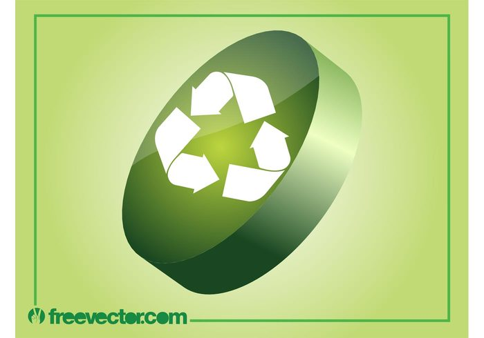 symbol shiny recycling recycle nature logo icon glossy environment 3d