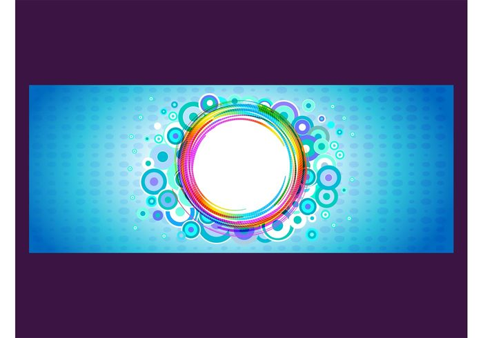 round rectangle label Geometry geometric shapes flyer colors colorful circles background abstract
