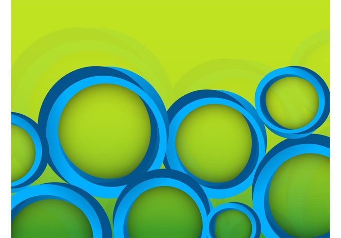 versatile three-dimensional shadows round rings poster geometric shapes decorations background abstract 3d