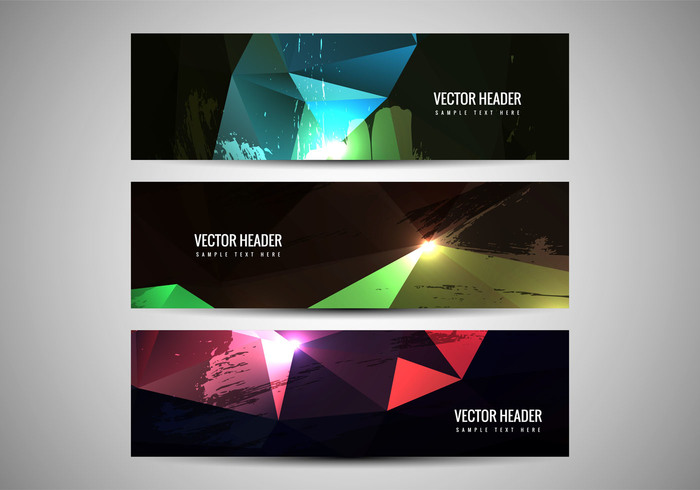 poster polygonal polygon headers header grunge glowing fondos decorative colorful card banner background abstract