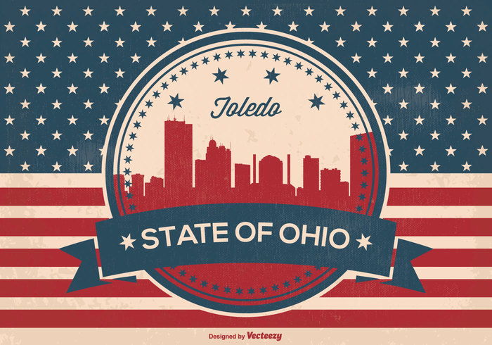 welcome weathered vintage view USA United Triumph town toledo ohio toledo texture symbol stripes states star Stain spotted skyline silhouette retro red white blue red plane patriotic panorama old ohio national history grunge Glory freedom flag famous downtown Distressed design denim country Cleveland city silhouette city canvas blue black banner background arrivals antique ancient american america