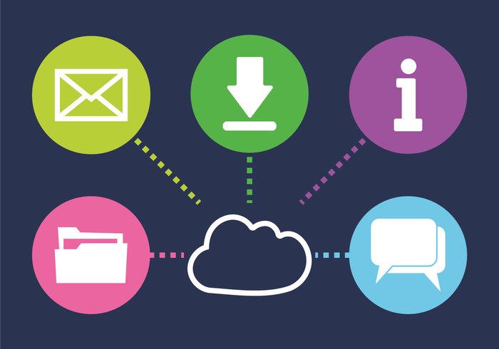 mail internet of things internet information icons email download document cloud chat