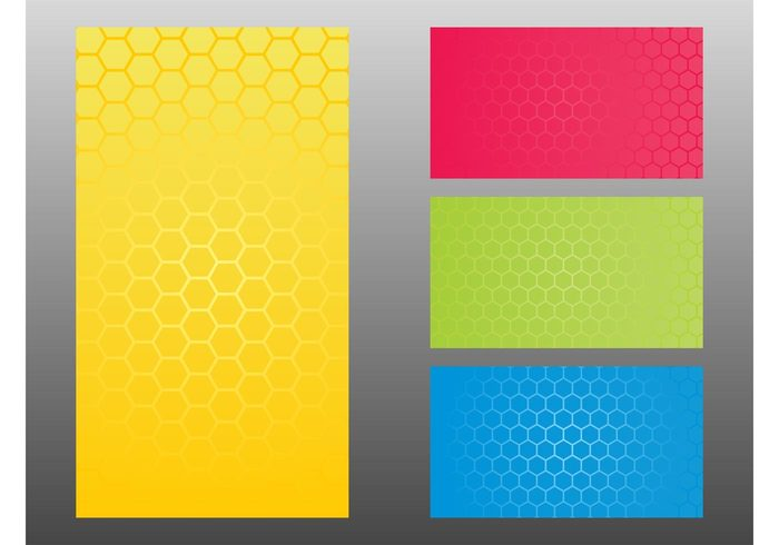 wallpapers Rectangles organic nature Honeycombs vector hexagons geometric shapes colors colorful bees Backgrounds Backdrops