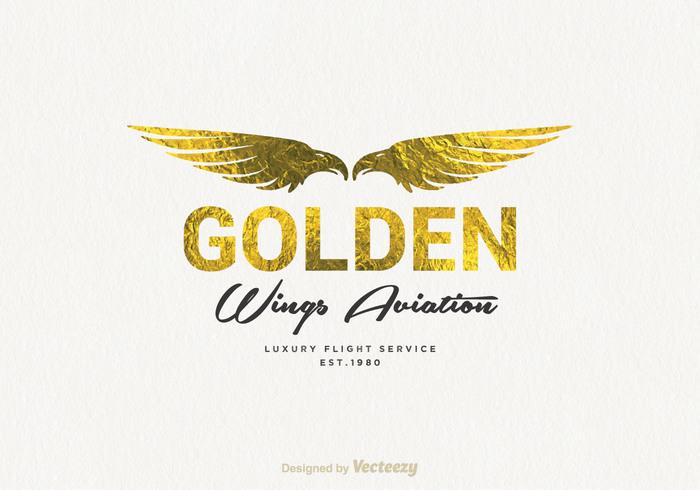 Free Golden Wings Logo Vector 106311