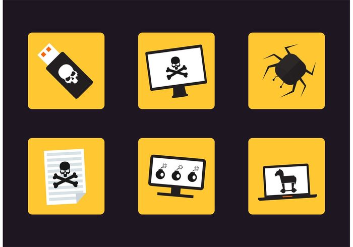worm virus vector icons trojan horse Trojan thief technology symbol spyware spy skull sign set security safety protection program pictogram phone money laptop isolated internet infected illustration icons horse Hacking Hacker Fraud forgery flat Flash drive digital danger Cyber Curing Criminal crime computer business bug broken bank alarm account