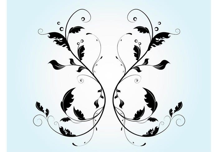 vines swirl scrolls plants ornate nature leaves leaf flowers flourish floral filigree easter curves