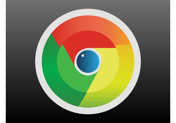 web shiny seo search engine round internet icon gradient geometric shapes colors circles browser
