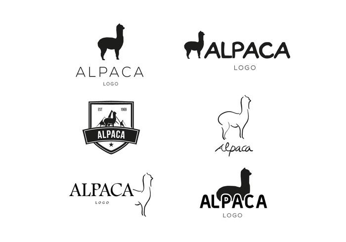 white typo type symbol silhouette logo llama Lama icon animal alpaca