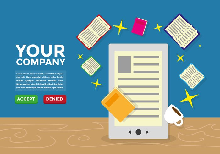 web wallpaper vector touch template tablet studying study screen school reader read Publication paper online on-line modern mobile magazine Literature library learn information illustration flat ereader electronic ebook e-book digital dictionary device design cover bookstore bookmark book background art