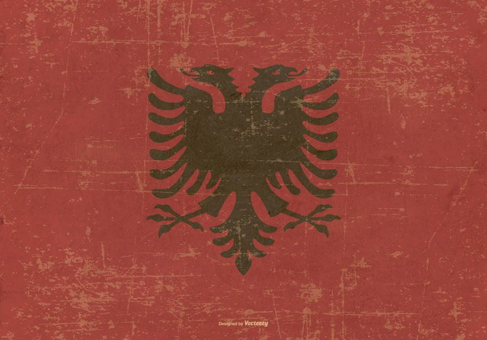 worn weathered vintage United tirana texture Symbolism symbol striped spotted revival retro red pattern Patriotism patriotic paper painting old national material illustration history grunge flag grunge freedom frame flag of albania flag european Europe Distressed dirty design Damaged country flag country celebration canvas brown border black Balkan background antique ancient Albanian albania aged abstract