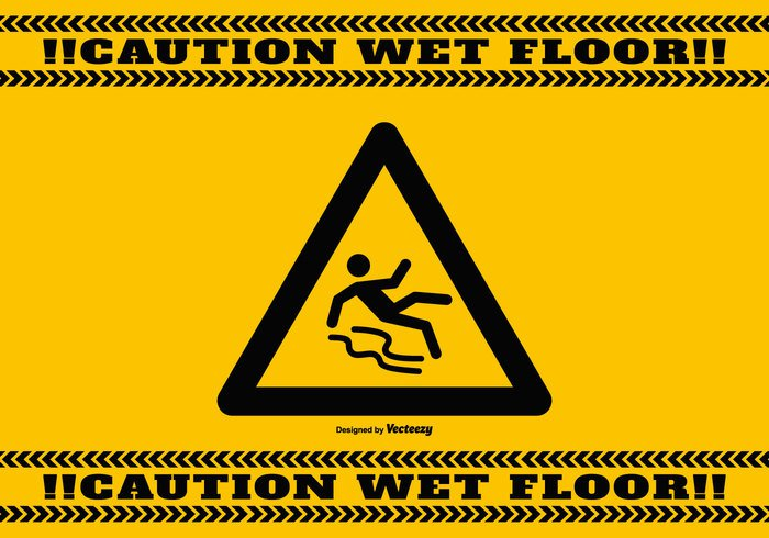 yellow white wet floor sign wet floor wet Way warning vector background vector TRICKY triangle symbol stumbling Slippery Slip slide slick skid sign shiny safety road risk Prevention pictogram notice label isolated image illustration icon glossy glide forewarn floor Fall ensign emblem drop down Dangerous danger caution sign caution careful button board Beware banner background attention alert alarm Accident