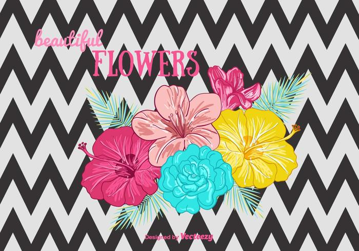 zig zag white wallpaper vector tropical summer plant pattern leaves Hula Hawaiian hawaii free flower background flower floral fabric botanical blossom black Beautiful flowers background