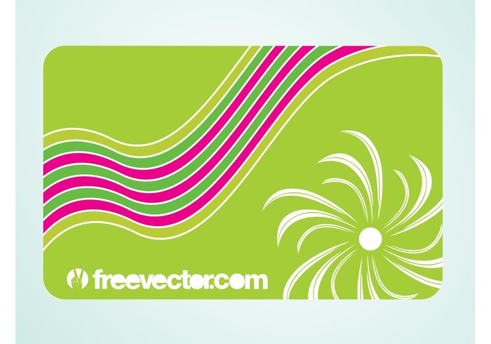 waves template spring nature lines flower floral corporate card business cards blossom background abstract