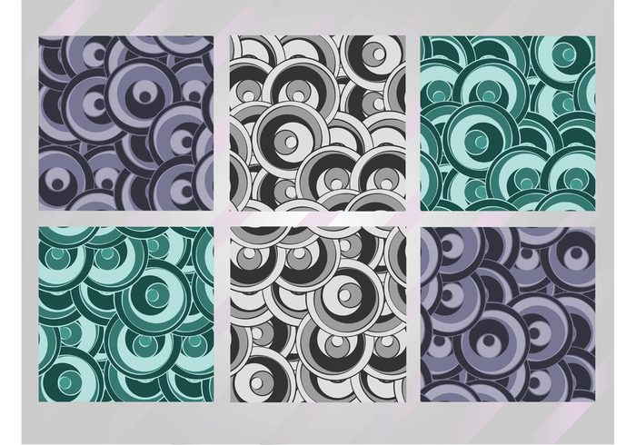 vector pattern stock vectors Seamless design round grey green Funky graphics Free graphics download circles blue abstract