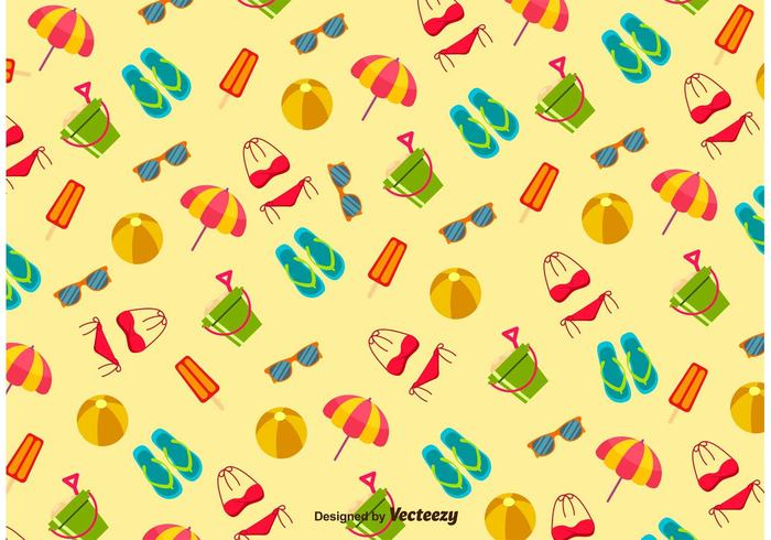 yellow weather wallpaper vintage vacation tiling sunny summer square Slipper seamless sea retro patterned pattern icecream flip-flop fashion drawing colorful clip art cartoon beach ball