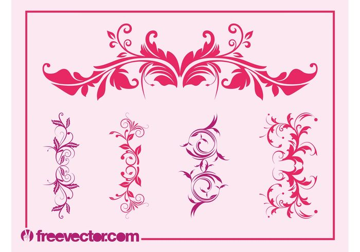 swirls Stems spring scrolls plants plant ornaments nature flowers flower floral decorative decorations