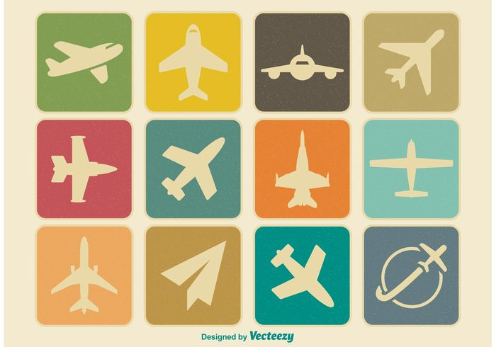 wing vintage icons vintage vacation trip travel transportation transport TAKE symbol sky simple silhouette sign shape Retro style retro plane pilot passenger old object Journey jet icon fly flight design Departure commercial combat cargo aviation Airways airplane airliner airline aircraft air aeroplane