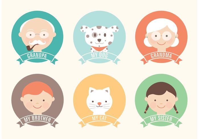 young woman vector Teen stylish Smile Sister set portrait pets pet people old mustache man kid isolated illustration icon Human head happy hair group gray Grandmother grandfather girl funny grandma funny female family face dog dad cute color collection child character cat Brother boy avatar adorable