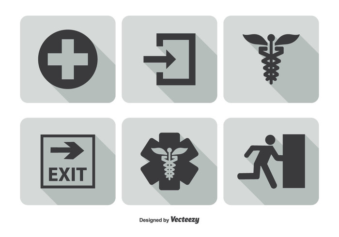 warning Urgency trendy traffic symbol sos siren sign shadow set security safety run protection pictogram long shadow light isolated icons icon set hospital help flat icons flat fire exit icon exit equipment engine emergency icon emergency exit sign emergency exit emergency door danger cone car call burning