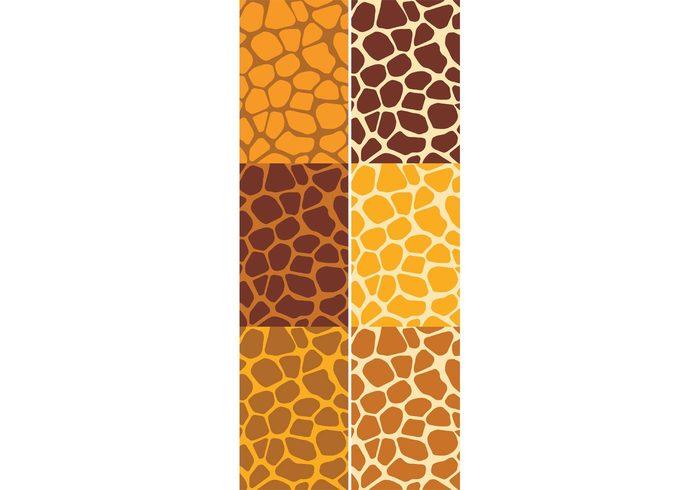 yellow wild wallpaper vector pattern vector stylish style set print pattern set pattern papers nature illustration Idea graphic giraffe print giraffe fashion design decorative decoration decor creative brown background backdrop animal print animal africa