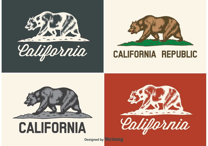 USA United symbol state star sign script Republic red national isolated ink icon green grass flag emblem element design collection california flag california bear label brown bear banner background america