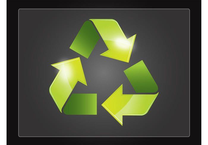 triangular triangle shiny recycling nature logo icon environment ecology eco arrows