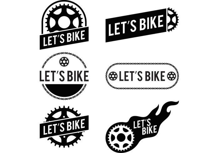 Part Lets Bike gear logo gear chain biking BikeSprocket biker bike sprocket bike logos bike logo bike label bike gear bike badge bike bicycle badge