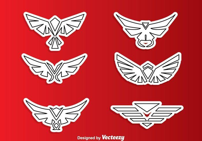 wing symmetric symbol outline medal logo line hawk outline hawk logos hawk logo hawk geometric fly emblem eagle bird outline bird logo