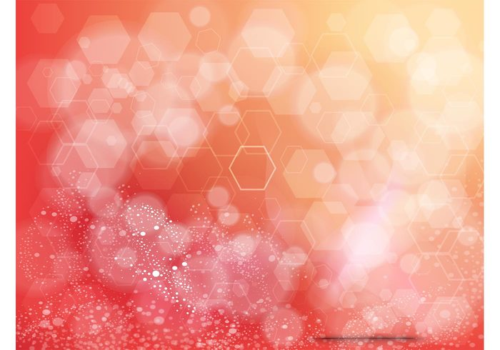 yellow red orange hexagon geometric shapes geometric free backgrounds bubbles background image abstract
