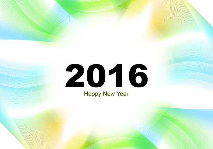 year wave wallpaper poster new happy greeting fondos colorful card beautiful banner background abstract 2016