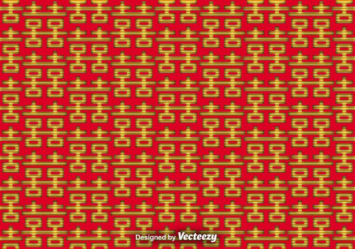 wedding wallpaper vintage vector traditional Tradition texture set seamless romance Relationship red pattern oriental marriage love joy happy happiness greeting double happiness double couple colorful chinese china card background Asian