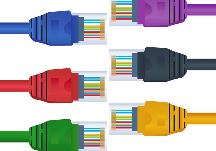vector up technology rj45 Provider Plug plastic pink patch orange object network LAN isolated internet icon gigabit connector connection connect computer communication cat6 cable blue background