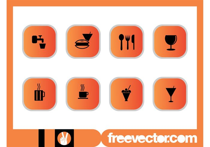wine glass Tap water symbols square spoon restaurant mugs martini knife icons icon ice cream hamburger fork food faucet fast food eat drinks drink cutlery cups coffee cocktail