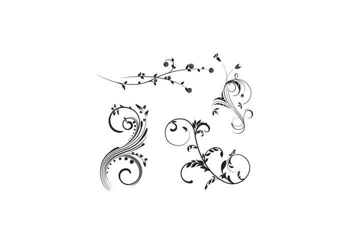 vintage vector ornaments vector flourish swirl ornament nature flower flourish floral flourish floral