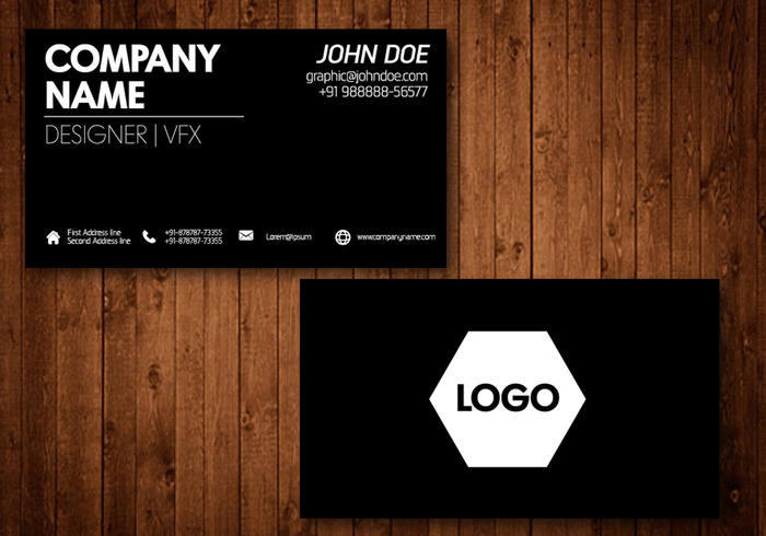 Black business card vector template welovesolo webdisgn web visit theme template symbol style simple sign presentation paper orange options office modern mobile vector professional business card reheart Images