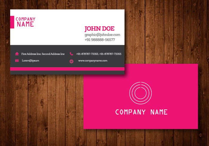 Pink creative business card vector template welovesolo wallpaper visit theme template style simple set presentation pink business card paper office modern mobile layout colourmoves