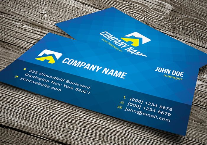 Cool blue business card template vector welovesolo template name card modern creative card template card business cards business card template business blue reheart Image collections