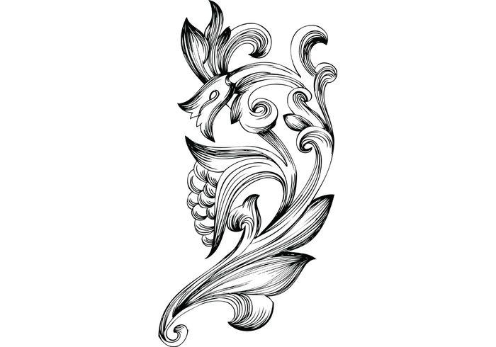 swirl ornaments nature freebie flowers flourish floral elements filigree decorative designs decoration