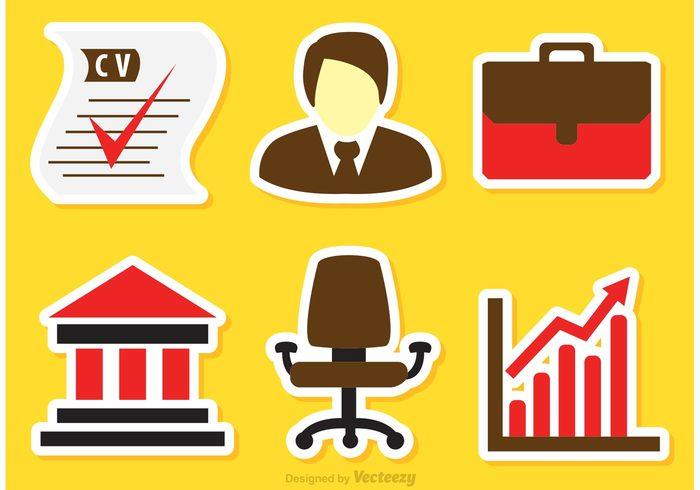 job business icons vectors 109175