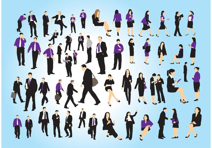 young work woman teamwork team silhouette people man girl employee Colleague businesswomen businessmen businessman business