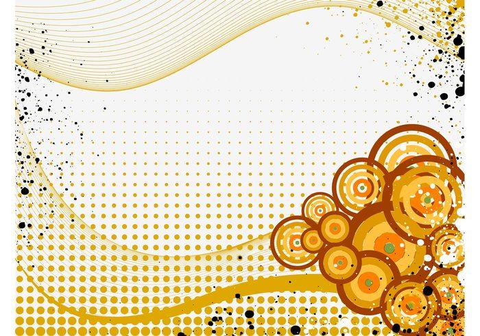 wireframes waving waves wallpaper Street Art splatter splashes round lines grunge dots decorative decorations circles