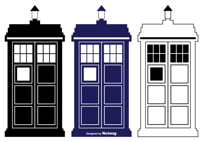 vintage Vector shape UK travel time television telephone tardis vector tardis silhouette tardis story science public police box police phone old machine London isolated illustration help fiction english England emergency doctor design communication call British box booth black background