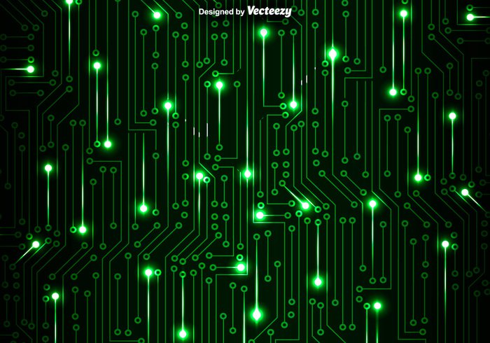 Green Circuit Board Vector Background Welovesolo