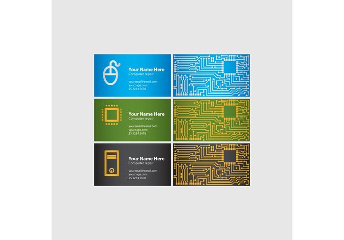 Computer chip business cards welovesolo computer chip business cards flashek Choice Image
